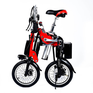 1 Sec Folding eBike - Red Color – 16″ Tire