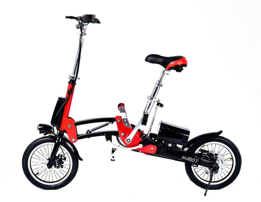 electric folding bicycle 1 second folding 14 ebike. Black Bedroom Furniture Sets. Home Design Ideas